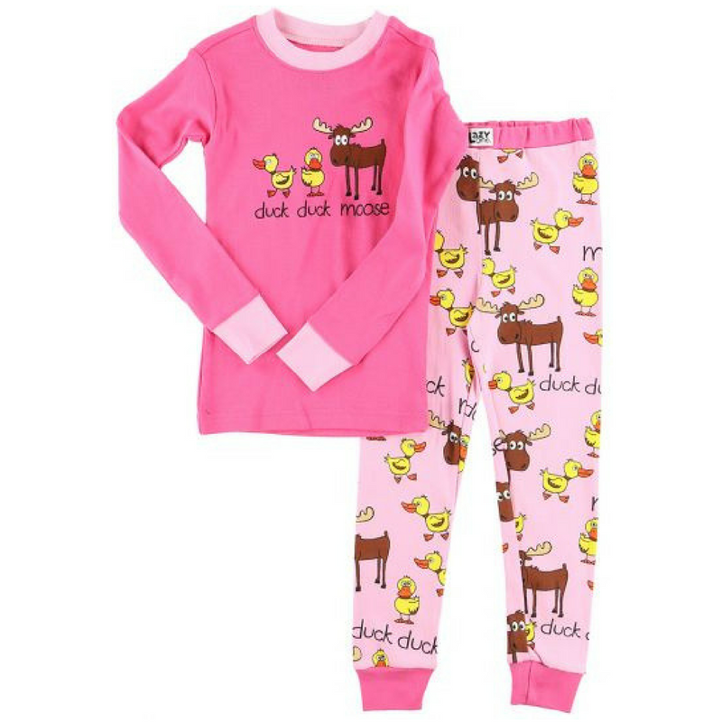 Duck Duck Moose Girls PJ Set
